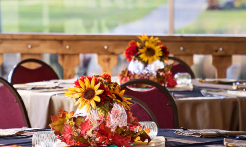 Reception Room Decorated for Autumn
