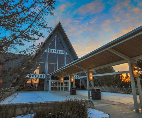 Hueston Woods Lodge Entrance
