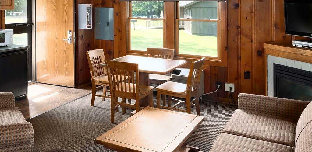 Interior of a cabin